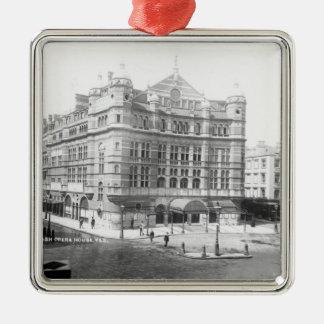 Royal English Opera House, 1891 Square Metal Christmas Ornament