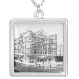 Royal English Opera House, 1891 Square Pendant Necklace