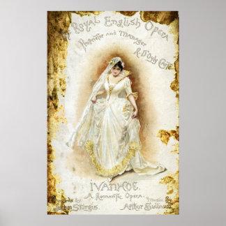 Royal English Opera's Ivanhoe Poster