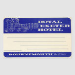 Royal Exeter Hotel Sticker