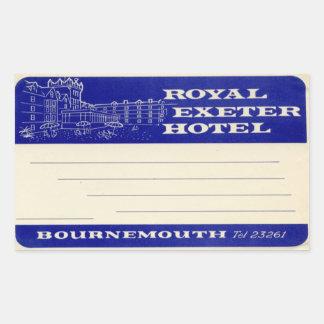 Royal Exeter Hotel Sticker