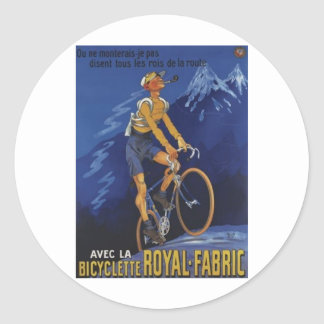 Royal Fabric Round Stickers