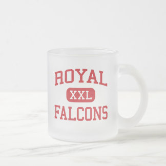 Royal - Falcons - Middle School - Brookshire Texas Frosted Glass Coffee Mug