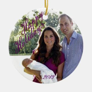 Royal family 2013 ceramic ornament