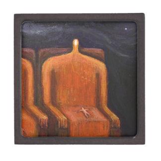 Royal Family (abstract dark human figures ) Keepsake Box