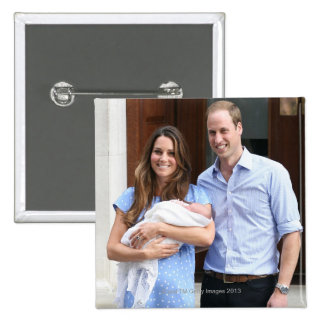 Royal Family at Lindo Wing 3 Pinback Button