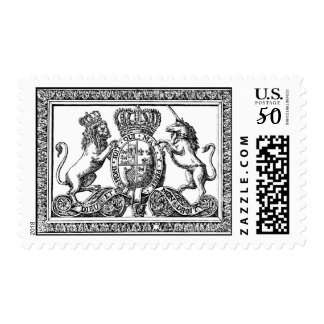 Royal Family Coat of Arms US Postage Stamp