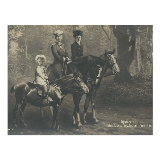 Royal family on horse sidesaddle #038SS Postcard