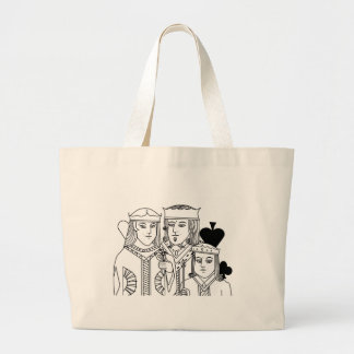 Royal Family portraiture card game poker items Large Tote Bag