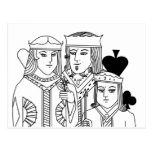 Royal Family portraiture card game poker items Post Cards
