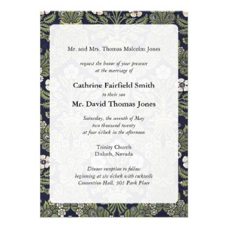 Royal Floral Wedding Invitations