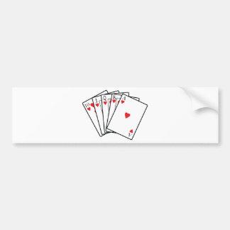 Royal Flush Bumper Sticker