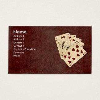 Royal Flush Business Card