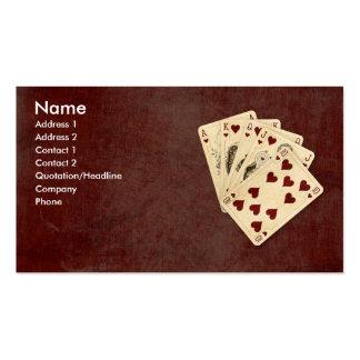 Royal Flush Business Cards
