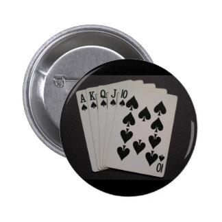 Royal Flush Pinback Button