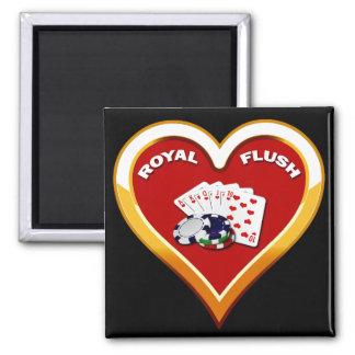 ROYAL FLUSH HEART MAGNET