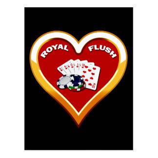 ROYAL FLUSH HEART POSTCARD