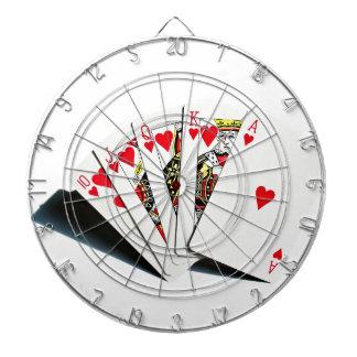 Royal Flush Hearts Dart Board