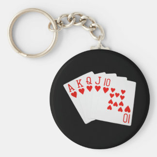 Royal Flush Keychain