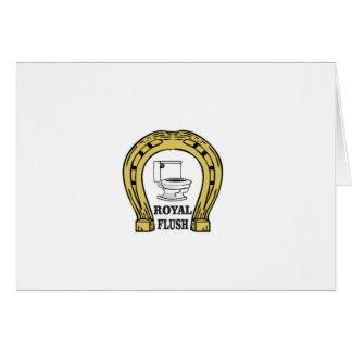 royal flush luck card