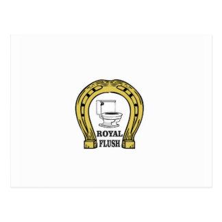 royal flush luck postcard