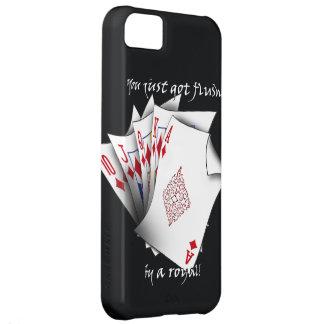 Royal Flush of Diamonds - Black iPhone 5C Cover