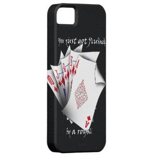 Royal Flush of Diamonds - Black iPhone SE/5/5s Case
