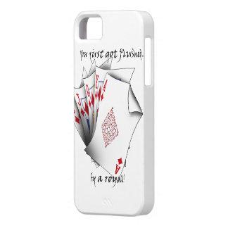 Royal Flush of Diamonds - white iPhone SE/5/5s Case