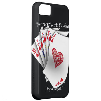 Royal Flush of hearts - black Case For iPhone 5C