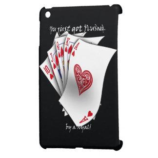 Royal Flush of Hearts - Black Case For The iPad Mini
