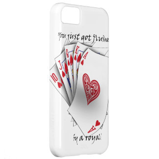 Royal Flush of Hearts - white Case For iPhone 5C