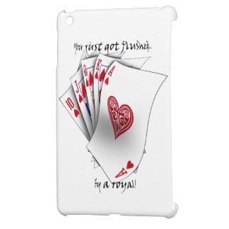 Royal Flush of Hearts - white iPad Mini Cases