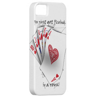 Royal Flush of Hearts - white iPhone SE/5/5s Case