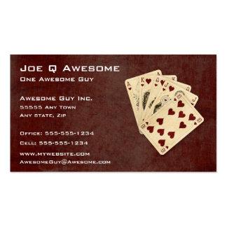 Royal Flush Poker Hand Business Card Template