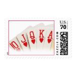 Royal Flush Postage Stamp