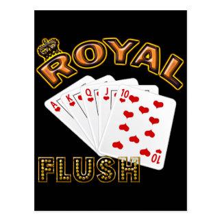 ROYAL FLUSH POSTCARD