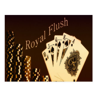 Royal Flush Postcard