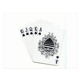 Royal Flush Spades Postcard