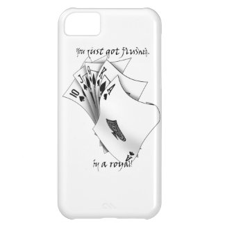 Royal flush, tattoo design cover for iPhone 5C