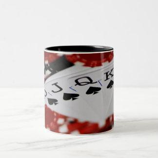Royal Flush Two-Tone Coffee Mug