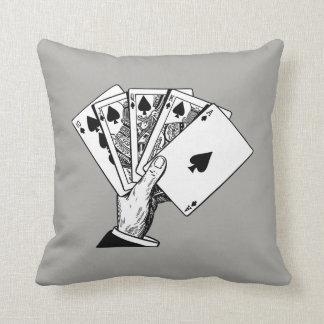 Royal Flush Vintage Illustration Pillows
