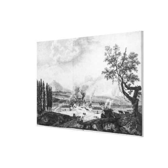 Royal Foundry at Le Creusot in 1787 Canvas Print