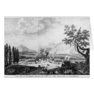 Royal Foundry at Le Creusot in 1787 Card