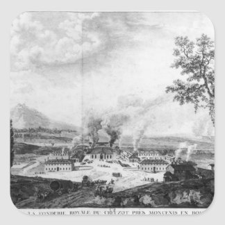 Royal Foundry at Le Creusot in 1787 Square Sticker
