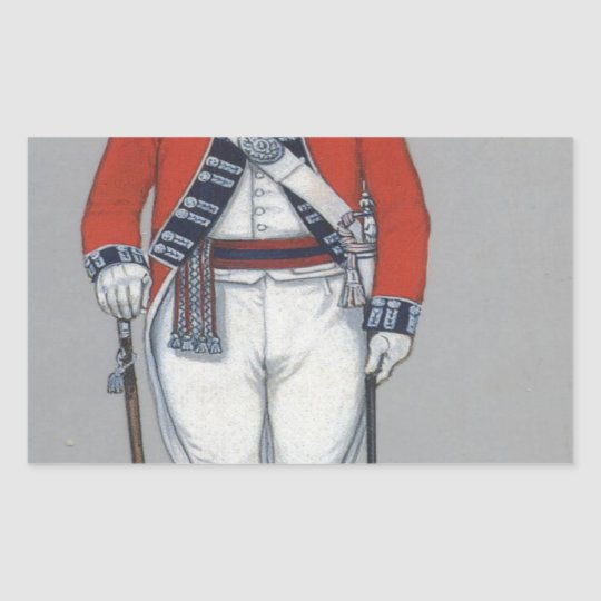 royal fusilier 1789  003.jpg rectangular sticker