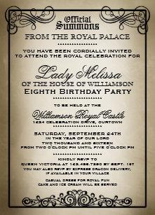 Gala invitations zazzle royal gala birthday party invitations stopboris Images