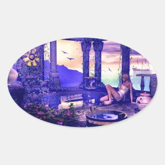 Royal Garden Bath Oval Sticker