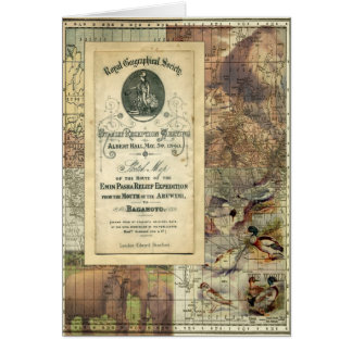 Royal Geographical Society Collage Greeting Card