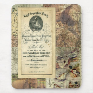 Royal Geographical Society Collage Mousepad