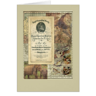 Royal Geographical Society Collage No. 2 Greeting  Card